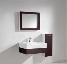Aura Modern Bathroom Vanity Set with Side Cabinet and LED Mirror Small Bathroom Sinks, Modern Bathroom Layouts, Vanity, Modern Bathtub, Modern Bathroom, Modern Bathroom Vanity, Sophisticated Bathroom, Modern Bathroom Decor, Bathroom Mirror Frame