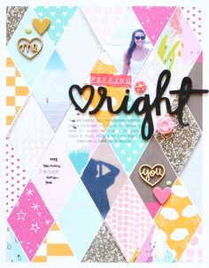#papercrafting #scrapbook #layout   Hybrid Layout Cariilup
