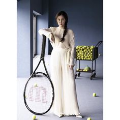 Shoot for Coollife tennis club. Feeling sporty chic in the pleated set ! #viktoriachan#pleats#ss16 #tennis