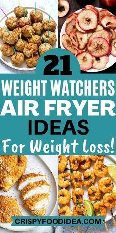 Air Fryer Oven Recipes, Air Frier Recipes, Air Fryer Dinner Recipes, Air Fryer Recipes Weight Watchers, Weight Watchers Meal Plans, Ww Recipes, Cooking Recipes, Healthy Recipes, Food Art