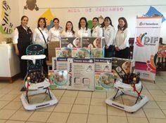 La presidenta del DIF Reynosa, señora Elvira Mendoza de Elías. entregó equipo a la guardería de la colonia Voluntad y Trabajo.