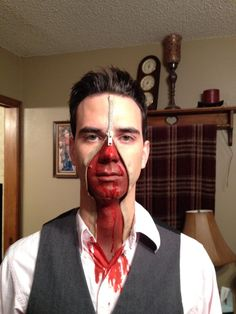 Pin for Later: 67 Wildly Creative DIY Costumes For Men Zipper Face Source: Reddit user bcbomb47 via Imgur