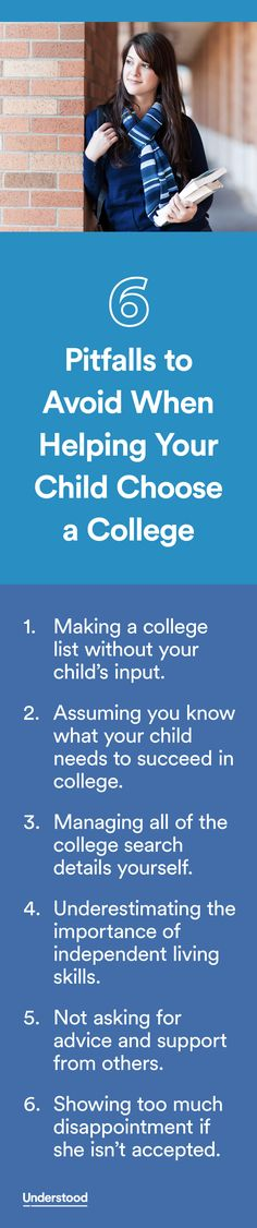 Working with your teen with learning and attention issues tochoose a collegecan be very exciting. However, it can also be somewhat daunting, and it may create a lot of tension between the two of you.