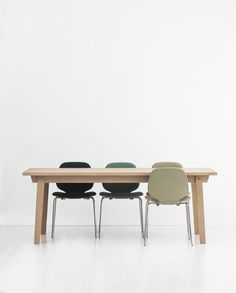 Invite wood inside and and add an organic feel to your decor! Slice table | My Chair | Normann Copenhagen