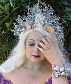 Mermaid Crown Shell Crown Mermaid by OnGossamerWings on Etsy