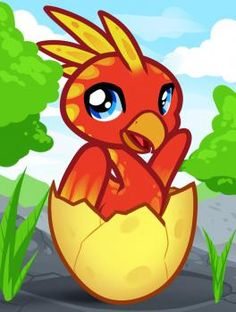 How to Draw a Baby Phoenix, Baby Phoenix,  Step by Step,  FREE Online Drawing Tutorial