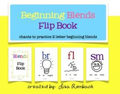 Blends Flip Book and simple chants to practice beginning blends $