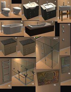 Mod the sims - the great aussie bathroom meuble salle de bain, sims 4 maiso Sims 4 Cc Furniture Living Rooms, Mod Furniture, Kitchen Furniture, Kitchen Decor, The Sims 2, Sims Cc, Sims 2 House, Muebles Sims 4 Cc, Sims 4 Kitchen