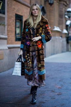 Even a blizzard can't stop New York Fashion Week attendees from rolling up to shows in their on-trend best.