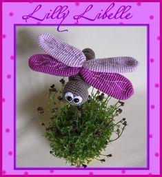 Häkelanleitung Lilly Libelle made by Babsie's Hook via DaWanda.com