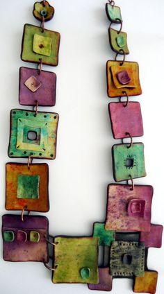 Polymer clay necklace by Anarina Anar
