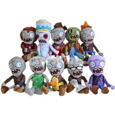 Plants vs Zombies Zombies Group C Plush Toys Plants Vs Zombies, Sewing Toys, Fashion Games, Wooden Toys, Bowser, Gifts For Kids, Kids Toys, Asymmetrical Haircuts, Action Figures