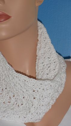 Available at Captola at Etsy.com Snow white crochet cowl made of very intricate stitches