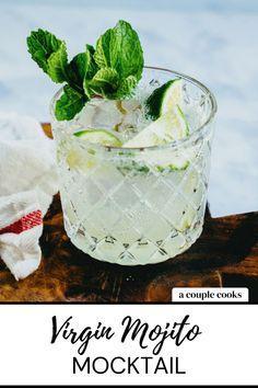 This virgin Mojito recipe has the minty flavor of the classic cocktail: without the rum! The Mojito mocktail is an ideal non-alcoholic drink. | non alcoholic drinks | virgin drinks | mocktails non alcoholic | mint drinks | summer drinks | #mojito #virginmojito #mojitomocktail #mocktailrecipes #mocktailrecipe Best Summer Cocktails, Best Cocktail Recipes, Refreshing Cocktails, Fun Cocktails, Drink Recipes, Mojito Mocktail, Mojito Recipe, Virgin Mojito, Virgin Drinks