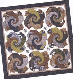 Let Sleeping Dogs Lie - fun pieced & applique quilt PATTERN for all dog lovers #StoryQuilts