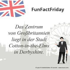 #FunFactFriday bei THE BRITISH SHOP: Das Zentrum von Großbritannien liegt in der Stadt Cotton-in-the-Elms in Derbyshire.