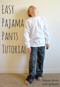 How to make a Pajama Pants PATTERN from Jeans---An EASY Tutorial