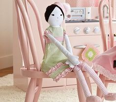 Oh how I wish my daughter was a little girl again. I remember all of the wonderful tea parties we had. I still have her collection of tea sets and dolls. Sometimes I am temped to purchase some new ones like this and sneak them into her hope chest!