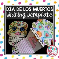 After students learn about Da de los Muertos, they can respond to writing prompts to show their understanding on these fun calavera templates. This item is included in my Hispanic Holidays Bundle and my Dia de los Muertos Bundle.