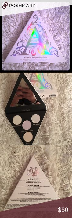 Kat Von D Alchemist eyeshadow palette Kat Von D Alchemist eyeshadow palette brand new in box. An eye, lip, and face transformer palette with four holographic colors. This sold out palette is in high demand for obvious reasons. Multitasking at its finest to transform any look. Kat Von D Makeup Eyeshadow