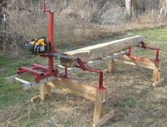 "You don't always have to buy your lumber for your woodworking projects. Everyone comes across ""urban lumber"" from downed trees but have no idea what they can do with it. I suggest you make your own small lumber. Wood Mill, Lumber Mill, Woodworking Jigs, Woodworking Projects, Woodworking Equipment, Woodworking Basics, Woodworking Magazine, Woodworking Classes, Welding Projects"