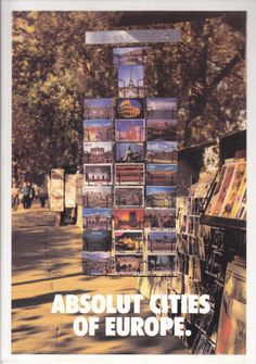 Absolut box cover (from boxed set Absolut Cities of Europe, 1994).