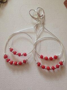 My version of OSU Buckeyes earrings