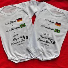 """Body infantil """"50% brasileiro 50% alemão"""" ♥️ 🇧🇷 R&J na  Alemanha 🇩🇪 ✌️😍 Personalize o seu !! Para maiores informações entrar em contato via… Body, Onesies, Sweatshirts, Sweaters, Clothes, Instagram, Fashion, Stamping, Germany"""