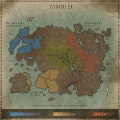 The Elder Scrolls Online - Map of Tamriel - with lots of little lorebits