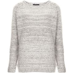 TOPSHOP Chunky Boucle Jumper (€43) ❤ liked on Polyvore featuring tops, sweaters, shirts, jumpers, topshop, off white, chunky jumper, long sleeve shirts, topshop shirts and long-sleeve shirt
