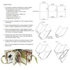 tutorial for a 16 page album measuring 3x3 from one sheet of 12x12
