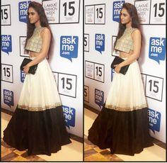 Payal Singhal # Krystal dsouza# cropped top look# Indian fashion