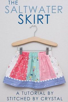 STITCHED by Crystal: Saltwater Skirt Tutorial with Riley Blake Fabrics Chanel lipstick Giveaway Sewing Kids Clothes, Sewing For Kids, Baby Sewing, Diy Clothes, Children Clothes, Little Girl Skirts, Skirts For Kids, Girls Skirt Patterns, Sewing Patterns
