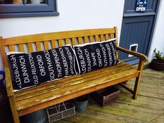 Tea towel bench cushions