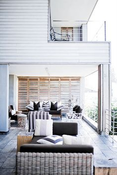 House and Home, decorating ideas, beach patio... i love indoor/outdoor living