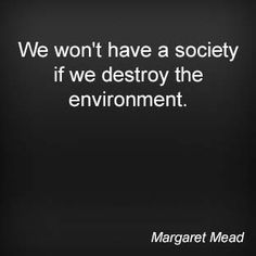 We won't have a society of we destroy the environment. Wisdom Quotes, Me Quotes, Margaret Mead, Smart Quotes, Hippie Life, Political Views, Word Up, Powerful Words, Believe