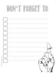 Free Printable To Do Lists  Free Printable Checklist Templates