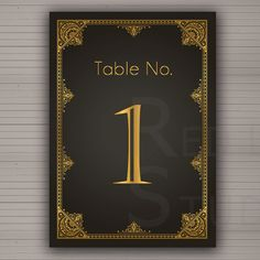 Table numbers 1 to 20 - DIY Printable - 1920 Art Deco Theme  - Instant Download