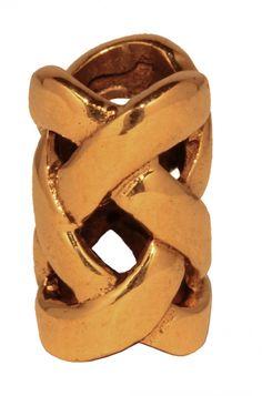 Keltische Bartperle und Haarschmuck ~ Nemetona ~ Bronze - Anhänger Perlen - Windalf