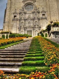 In northeast Spain the small city of Girona celebrates spring's arrival with the annual flower festival aptly named Temps de Flors.