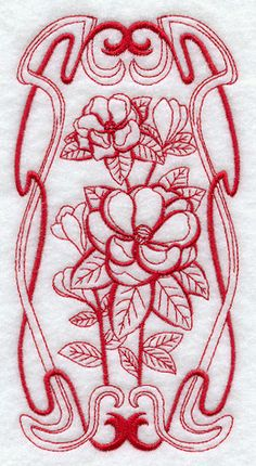 Machine Embroidery Designs at Embroidery Library! - Color Change - G9063 13013 magnolia deco redowork