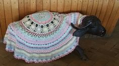 """Queen Mandala CAL 2016, MoYa 100% organic yarn is used and can be purchased at www.mandalaqueen.org - The pattern is FREE and can be found on the FACEBOOK GROUP: """"Crochet/Hekel Mandala CAL 2016"""" Come and join the more than 13,000 members worldwide. By Annamarie Esterhuizen. The pattern may also be found at: http://mandalaqueen.org/download-patterns/"""