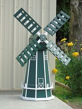 Octagon sided) Poly Dutch Windmill (Green with White Trim) Old Window Projects, Wood Projects, Craft Projects, Projects To Try, Dutch Windmill, Garden Windmill, Homemade Windmill, Wood Crafts, Diy And Crafts