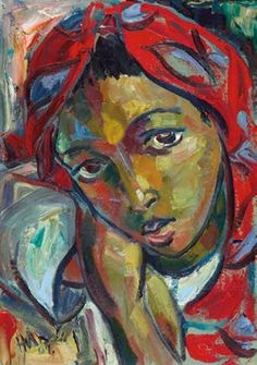 View The Red Scarf by Hennie Niemann Jr. Browse upcoming and past auction lots by Hennie Niemann Jr. Female Portrait, Portrait Art, Portrait Paintings, Portraits, Figure Painting, Painting & Drawing, Face Art, Art Faces, Plastic Art