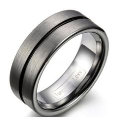 The Lynchpin doesn't just hold it all together, but with a fresh fashioned look creates a superb band. A Tungsten Carbide ring with a brush finish and a black