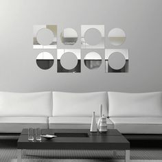 Espelho Decorativo - Bolas e Quadrados - 005esp