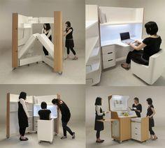 Diseño de muebles - Atelier OPA small-house-interior-fold