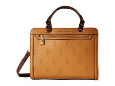 U.S. POLO ASSN. Embossed Logo Satchel; 6pm, $37.99