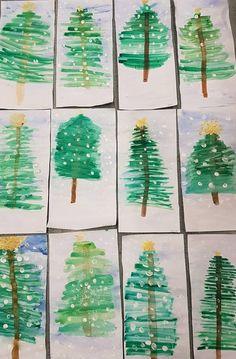 Christmas Crafts for Kids Preschool Christmas, Noel Christmas, Christmas Activities, Christmas Crafts For Kids, Winter Christmas, Holiday Crafts, Christmas Cards, Christmas Art Projects, Winter Art Projects