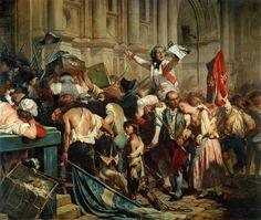 Paul Delaroche, The Conquerors of the Bastille before the Hotel de Ville, 1839
